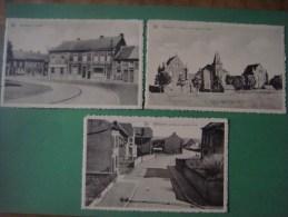 Lot De 5 Cartes De BELLECOURT ( MANAGE - LA LOUVIERE ) Rue De La Cure -Maison Communale -Ecole -Place -Pachy - Manage