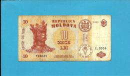 MOLDOVA - 10 LEI - 1995 - Pick 10 - Serie C.0036 - Republica - Moldova