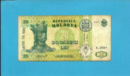 MOLDOVA - 20 LEI - 1997 - Pick 13 - RARE - Serie D.0061 - Republica - Moldova