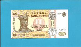 MOLDOVA - 100 LEI - 1992 ( 1995 ) - Pick 15 - Serie F.0046 - Republica - Moldavie