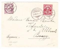 Schweiz Brief  21.8.1894 Yverdon Nach Brugg Weiter Tiefenstein - 1882-1906 Stemmi, Helvetia Verticalmente & UPU