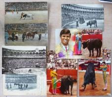 Lot 8X ESPAGNE CORRIDA DE TOROS CPA 1900  ET CPSM EL CORDOBES  VOIR PHOTOS  Frais Envoi 1.40 Eur - Corrida