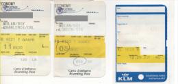 Alt708 Carta Imbarco Boarding Pass Ryanair KLM Flight Volo Airline Aereo Orio Serio Bergamo Charleroi Amsterdam - Europe