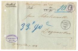 Schweiz Amtlich Brief 12.3.1906 Winikon Nach Dagmersellen Mit 40Rp. Stehende  Zu.#76F - 1882-1906 Stemmi, Helvetia Verticalmente & UPU
