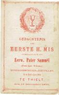 TIELT - Eerste H.MIS Eerw. Pater SAMUËL (Willems F.) - Minderbroeder-Recollet - 1877 - Images Religieuses