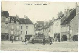 ARBOIS  Place Liberté Animée  N°25 Jura Cpa - Frankrijk