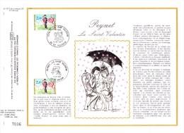 2354 (Yvert) Sur Feuillet 757 S Du Catalogue CEF (578 / Soie) - La Saint-Valentin Les Amoureux De Peynet - France 1985 - 1980-1989