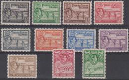 TURKS AND CAICOS - The Original 1938 Set Of King George VI To 5/- (no 10/-). Between 78-89.  Superb MNH ** - Turks E Caicos