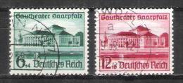 Reich N° 614 Et 615 Oblitérés - Allemagne