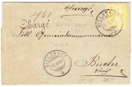 Schweiz Heimat ZH DIELSDORF 19.6.1890 R-Brief Nach Buchs ZH - 1882-1906 Armoiries, Helvetia Debout & UPU