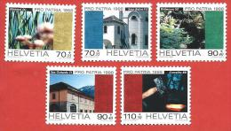 SVIZZERA PRO PATRIA MNH - 1998 - Paesaggi E Beni Culturali  - VARI - Michel 1649-1653 - Pro Patria