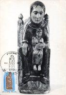 BELGIQUE. N°2010 De 1981 Sur Carte Maximum. Sculpture De Notre-Dame De Tongre. - Sculpture