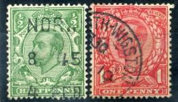 1912 GRAN BRETAGNA SERIE COMPLETA USATA (N.137-138) - Usati