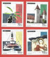 SVIZZERA PRO PATRIA MNH - 1999 - Paesaggi E Beni Culturali  - VARI - Michel 1681-1684 - Nuovi