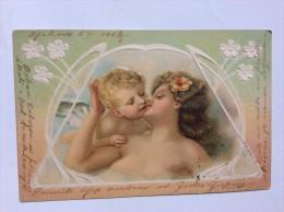 AK    ANGEL  ENGEL  EMBOSSED   LITHO  1906 - Anges