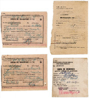 Romania, 1958, Romanian Railways CFR Transport Orders & Delegations - Transporttickets
