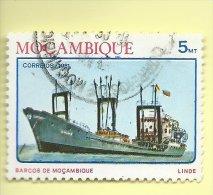 TIMBRES - STAMPS - MOZAMBIQUE  / MOÇAMBIQUE - 1981 - BATEAUX - TIMBRE OBLITÉRÉ - Mozambique
