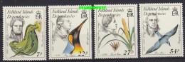 Falkland Islands Dependencies 1985 Early Naturalists 4v ** Mnh (22983) - Falkland Islands