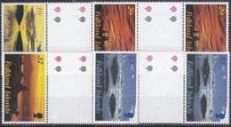 Falkland Islands 2001 Sunrise & Sunset 4v  Gutter ** Mnh (22984) - Falklandeilanden