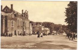 Tavistock, Bedford Square Sepia Postcard By Frith Unused 1920´s - England
