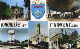 JONQUIERES ET SAINT VINCENT - GARD   (30) -  CPSM  MULTIVUES DES ANNEES 1950. - France