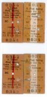 Romania, 1957, Romanian Railways CFR - Lot Of 4 Tickets, Arad - Ploiesti - Autres