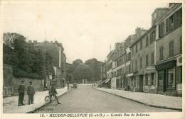 Cpa MEUDON BELLEVUE 92 Grande Rue De Bellevue - Animée - Meudon