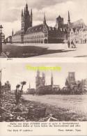 CPA YPRES AVANT ET APRES LE BOMBARDEMENT PHOTO ANTONY IEPER GUERRE 1914-18 IMP. NEURDEIN PARIS - Ieper