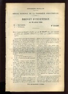 - AUTOMOBILISME . BREVET D�INVENTION DE 1902 .
