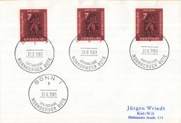 """Duitsland - Erstausgabe - 31-8-1961 - Bonn1 - Ausstellung """"Der Brief Im Wandel Von Fünf Jahrhunderten"""" Nürnberg - M 365 - Post"""