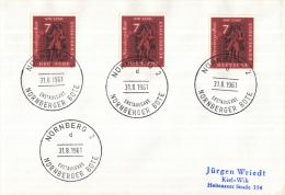 """Duitsland - Erstausgabe - 31-8-1961 - Nürnberg2 - Ausstellung """"Der Brief Im Wandel Von Fünf Jahrhunderten""""  - M 365 - Post"""