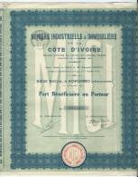 Miniere Industrille Et Immobiliere Cote D'ivoire - Afrique