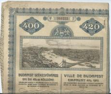 Budapest Emprunt 4 %1911 - W - Z