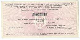 Emprunts Serbes 1935-1936 Frs.or 50 Belgrade 14 Octobre 1936 - Actions & Titres