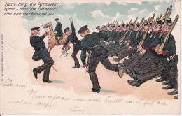 AK Exerzieren - Humor - Patriotika - Stempel Niederderlauterbach - 1908  (16649) - Humor