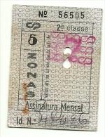 Portugal CP - 1 Ticket - Assinatura Mensal - Julho 1982 - Europe