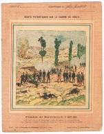 Ancienne Couverture De Cahier D'écolier, Guerre 1870-71, Combat De Sarrebrück - 2 Scans - Buvards, Protège-cahiers Illustrés