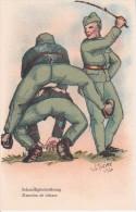 AK Schnelligkeitsübung - Künstlerkarte W. Thrier 1926 - Schweizer Armee - Patriotika  (16661) - Humor