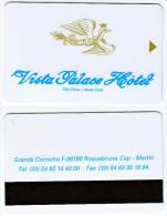 Hotel Keycard - Vista Palace Hotel - Monte Carlo XX63 - Cartes D'hotel