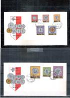 Monnaies - 2 FDC Malte - Série Complète - Coins