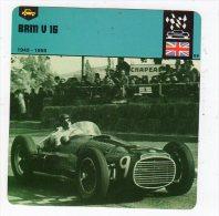 Juil15    70093  BRM V 16  ( Fiche Auto ) - Sport Automobile