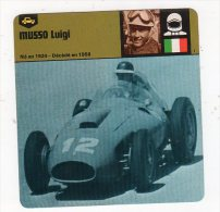 Juil15    70072   MUSSO LUIGI      ( Fiche Auto ) - Sport Automobile