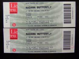 2 ENTRADAS PARA EL GRAN TEATRO DEL  LICEO - MADAMA BUTTERFLY - 21/06/2006 - Tickets - Entradas