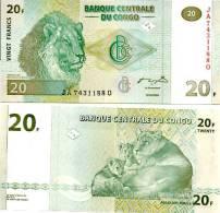 CONGO DEMOCRATIC REPUBLIC 20 Francs 2003  *UNC* - Congo
