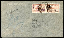 URUGUAY TO USA Air Mail Registered Coveer 1946 VF - Uruguay