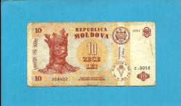 MOLDOVA - 10 LEI - 1994 - Pick 10 - Serie C.0058 - Republica - Moldova