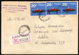 POLEN - Feuer Löschschiffe / Strazak 4 - Reko Brief - Feuerwehr