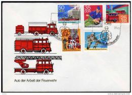 DDR 1977 - Feuerwehr, Fire Brigade - MiNr.2276-2280 FDC Kompletter Satz - Feuerwehr