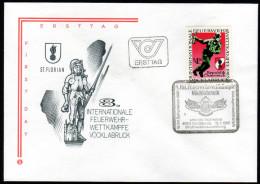 ÖSTERREICH 1985 - Feuerwehr - Wettkämpfe, Fire Brigade - Sonderstempel FDC - Feuerwehr