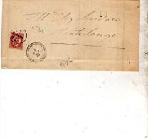 1876 LETTERA CON ANNULLO PIEVE DI SACCO PADOVA - Steuermarken
